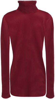 Victoria Victoria Beckham Ribbed-knit Turtleneck Top