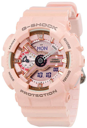 Casio G-Shock Digital Dial Pink Resin Ladies Watch GMAS110MP-4A1
