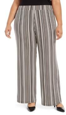 Alfani Plus Size Striped Palazzo Pants, Created For Macy's