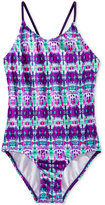 Kanu Surf 1-Pc. Kayla Abstract-Print Swimsuit, Big Girls (7-16)