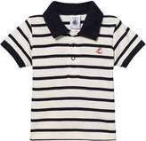 Petit Bateau Navy and White Jersey Polo Shirt