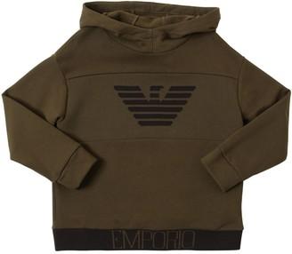 Emporio Armani Printed Logo Cotton Sweatshirt Hoodie