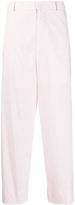 Maison Flaneur Cotton Wide-Leg Trousers