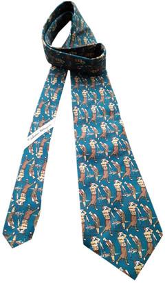 Salvatore Ferragamo Green Silk Ties