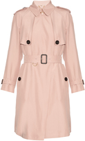 Burberry Everson silk-noil trench coat