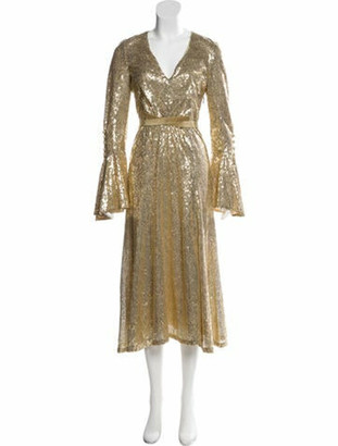 Prabal Gurung Sequined Evening Gown w/ Tags Gold