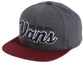 Vans Boy's Wilmington Snapback Hat - Grey