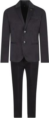 Armani Collezioni Blue Suit For Boy With Iconic Eagle