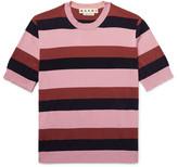 Marni Striped Knitted Cotton T-Shirt