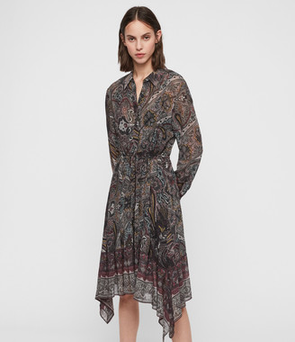 AllSaints Lizzy Scarf Dress