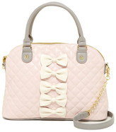 Betsey Johnson Petite-Chic Bows Faux Leather Dome Satchel