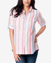 Splendid Maternity Printed Button-Front Blouse