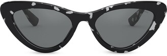 Miu Miu Logo cat eye sunglasses