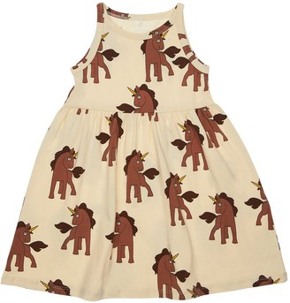 Mini Rodini Unicorn Print Organic Cotton Dress
