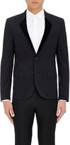 Lanvin MEN'S STRETCH-WOOL TWO-BUTTON SLIM-FIT SPORTCOAT-NAVY SIZE 48 EU