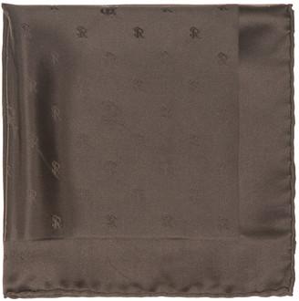Stefano Ricci Silk Logo Pocket Square