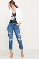 Dynamite Cara Medium Wash Distressed Relaxed Skinny Jean
