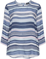 Via Appia Plus Size Striped batiste t-shirt