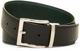 a. testoni Vintage Leather Reversible Belt