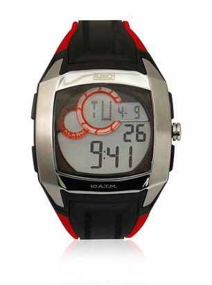 Munich Unisex Adult Digital Quartz Watch with Rubber Strap MU+128.1B