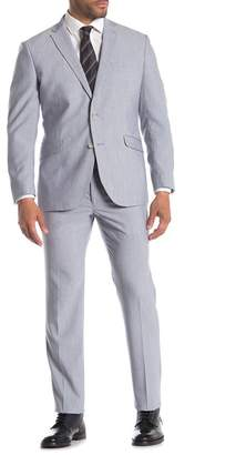 Kenneth Cole Reaction Light Blue Sharkskin Techni-Cole Performance Slim Fit Suit
