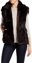 Surell Zip-Up Genuine Rabbit Fur Vest