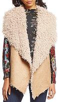 Coco + Jaimeson Faux-Suede Faux-Shearling Fur Vest