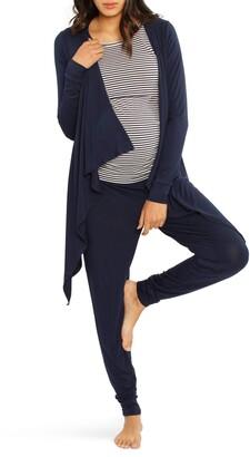 Angel Maternity Maternity/Nursing Cardigan, Tank & Pants Set