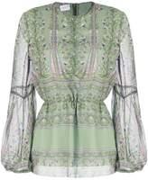 Giambattista Valli gathered waist blouse