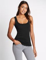 Marks and Spencer Pure Cotton Scoop Neck Vest Top