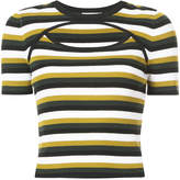 A.L.C. striped knit cut-out top