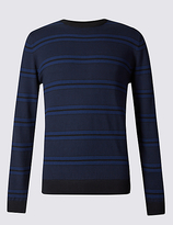 Blue Harbour Pure Cotton Striped Jumper
