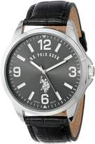 U.S. Polo Assn. Men's Oversized Dial Leather Strap Watch USC50007