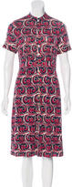 Tory Burch Abstract Print Button-Up Dress