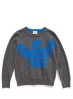 Armani Junior Boy's Logo Print Crewneck Sweater