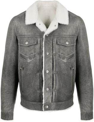 Balmain Shearling Shirt Jacket