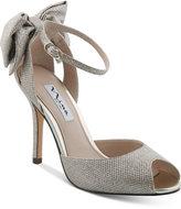 Nina Martina d'Orsay Bow Evening Sandals