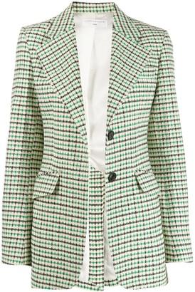 Victoria Beckham Jarvis tweed print blazer
