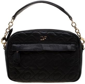 Diane von Furstenberg Black Quilted Leather Milo Crossbody Bag