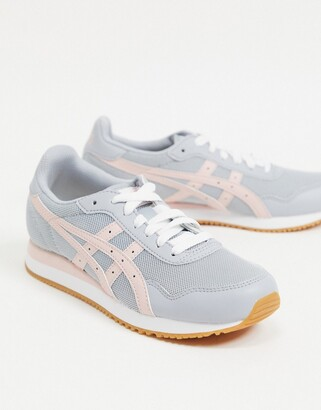 Asics runner in grey and pink