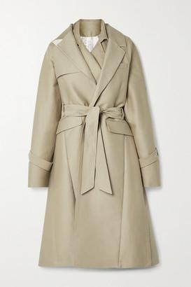 Peter Do Oversized Layered Cotton-gabardine Trench Coat - Beige