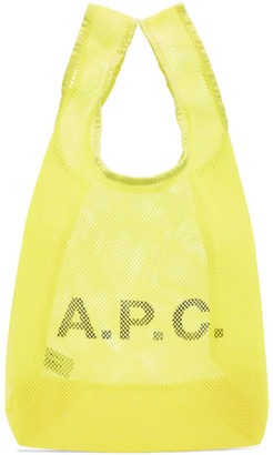 A.P.C. Yellow Rebound Shopping Tote