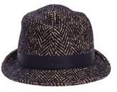 Tagliatore Men's Brown Cotton Hat.