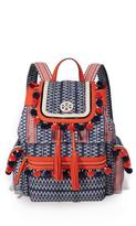 Tory Burch Scout Nylon Pom Pom Backpack