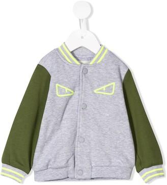 Fendi Kids Monster Eyes bomber jacket
