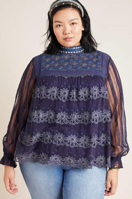 Bl Nk Massey Embroidered Top