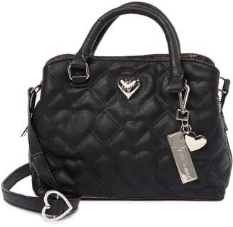 Betsey Johnson Mini Faux Leather Satchel