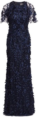 Theia Beaded Floral Gown