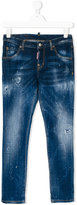 DSQUARED2 distressed jeans - kids - Cotton/Spandex/Elastane - 14 yrs