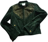 Gianni Versace Green Leather Leather Jacket for Women